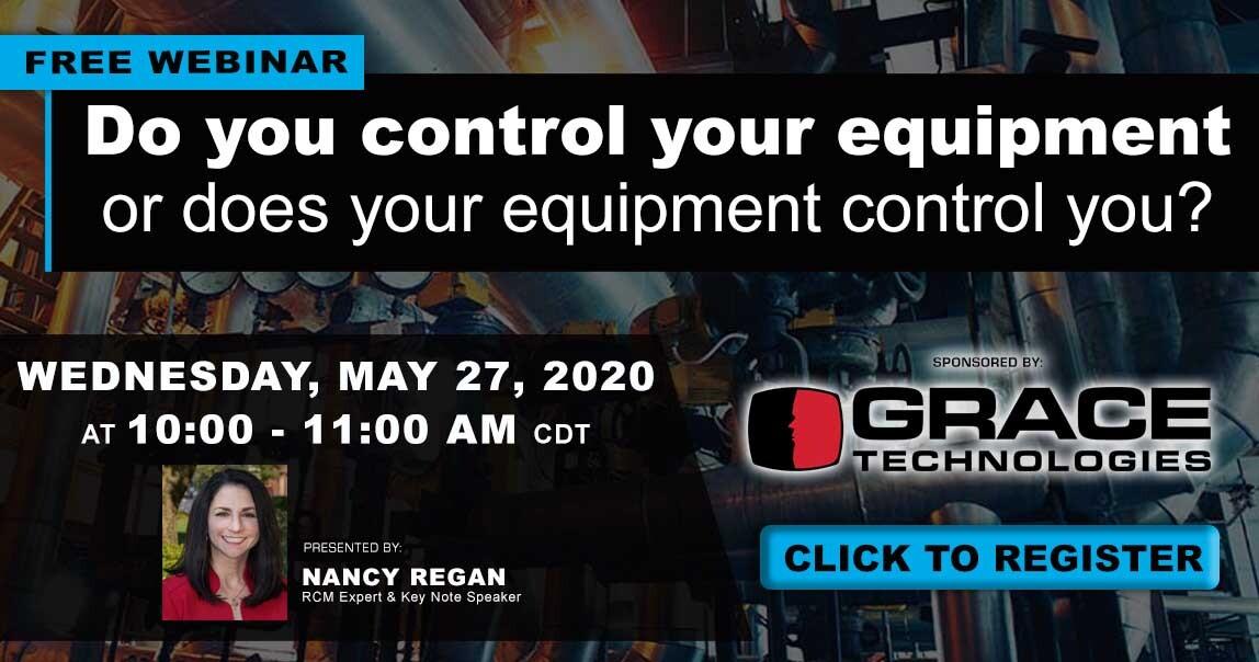 Reliability webinar for equipment control and predictive maintenance.